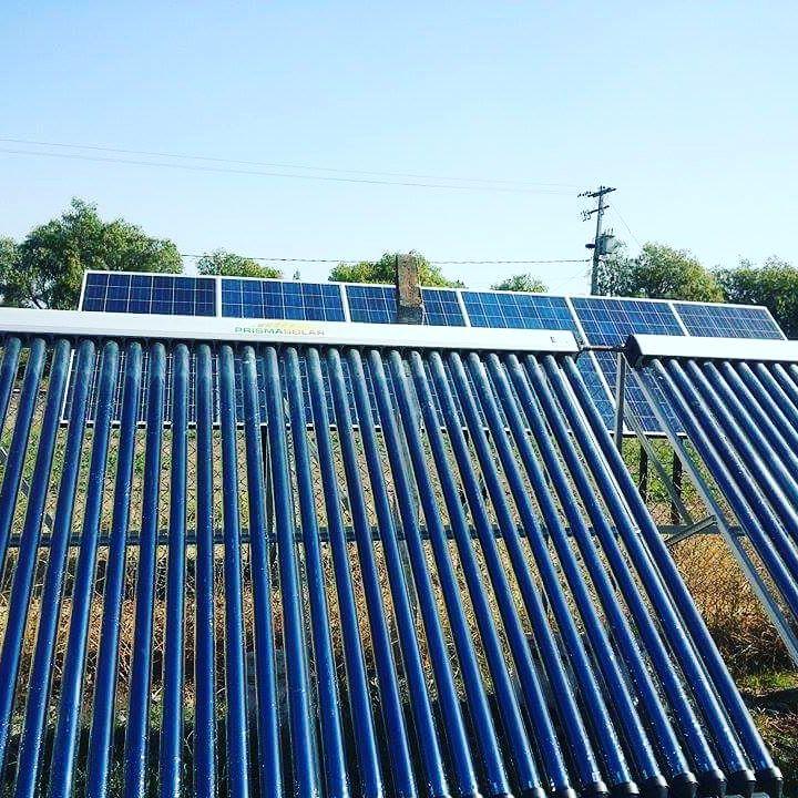 Proyecto equipo solar t rmico estanque con colectores heat for Estanque para agua caliente